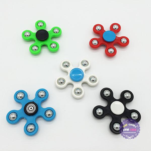 Hộp đồ chơi Fidget Spinner 5 cánh bằng nhựa
