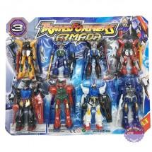 Vỉ đồ chơi 8 con robot biến hình transformers bằng nhựa