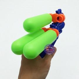 Đồ chơi súng bắn nước 2 nòng, 4 bình nước dự trữ nhỏ