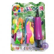 Vỉ đồ chơi ống bơm & bong bóng Balloon bằng nhựa