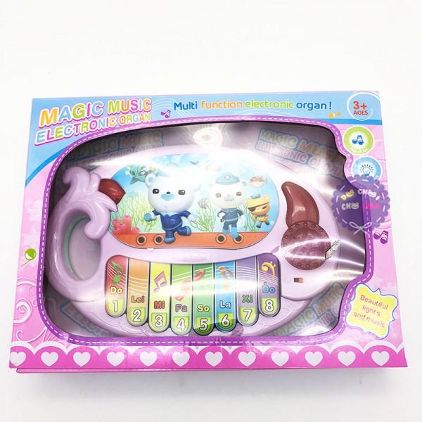 Hộp đồ chơi đàn organ hình con mực có nhạc đèn 318