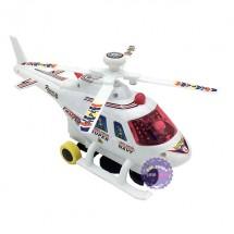 Hộp đồ chơi máy bay trực thăng trắng chạy pin có đèn nhạc