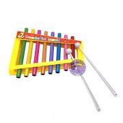 Đồ chơi đàn gõ Xylophone 8 thanh trụ tròn bằng sắt 32168-6