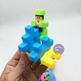 Giỏ đồ chơi lắp ráp, xếp hình 72 mảnh ghép bằng nhựa 3272