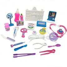 Bộ đồ chơi túi bác sĩ ngôi nhà & dụng cụ y tế bằng nhựa