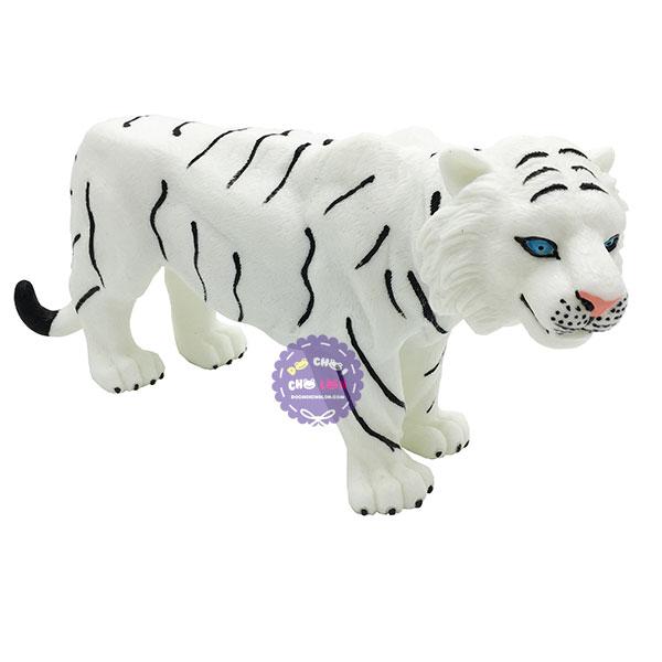 Đồ chơi mô hình con cọp trắng bằng nhựa mềm