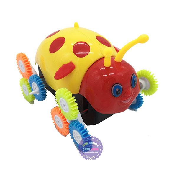 Hộp đồ chơi xe bọ cánh cam nhào lộn 12 bánh lật chạy pin