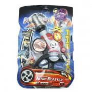 Vỉ đồ chơi súng siêu nhân cơ động Nitro Blaster pin nhạc