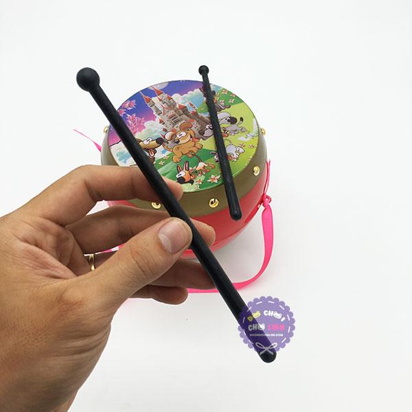 Đồ chơi đánh trống cơm bằng nhựa hình hoạt hình
