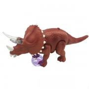 Hộp đồ chơi khủng long tê giác 2 sừng đèn chạy pin có nhạc 333-38