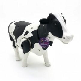 Hộp đồ chơi mô hình bò sữa chạy pin có đèn nhạc 333-33