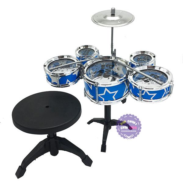 Hộp đồ chơi bộ trống Jazz Drum 5 cái kèm ghế ngồi