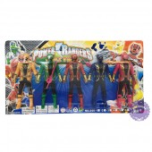 Vỉ đồ chơi 5 anh em siêu nhân hải tặc Gokaiger mini bằng nhựa