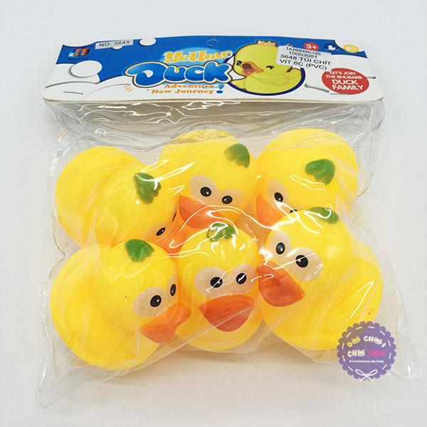 Bộ đồ chơi túi chít vịt 6 con Yello Duck