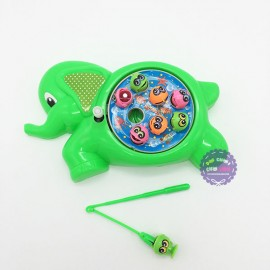 Vỉ đồ chơi câu cá nam châm vặn dây cót hình con voi