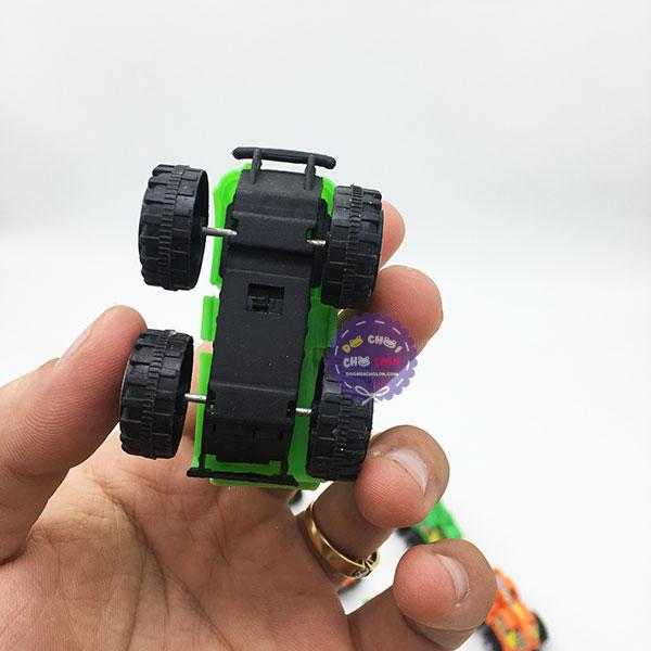 Vỉ đồ chơi 12 xe công trình mini bằng nhựa chạy trớn