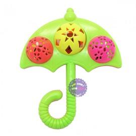 Đồ chơi lục lạc lắc 3 banh ô dù bằng nhựa