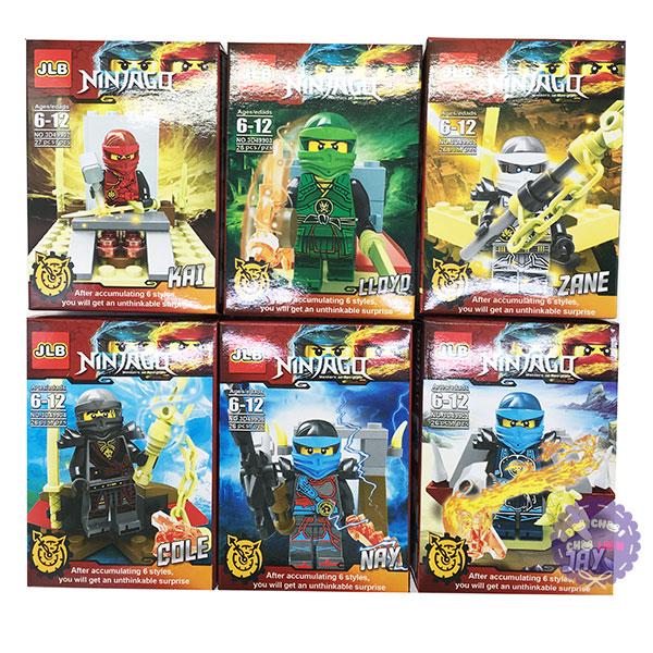 Bộ 6 hộp đồ chơi lắp ráp NinjaGo bằng nhựa 3D499