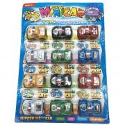 Vỉ đồ chơi 12 xe cảnh sát Mini Car chạy trớn
