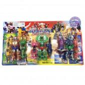 Vỉ đồ chơi bộ 3 siêu nhân Gao Ranger mini bằng nhựa