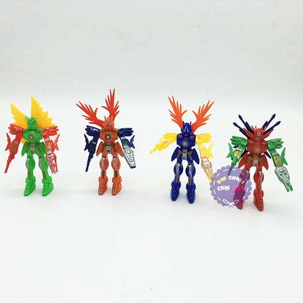 Vỉ đồ chơi bộ 4 siêu nhân Gundam mini bằng nhựa