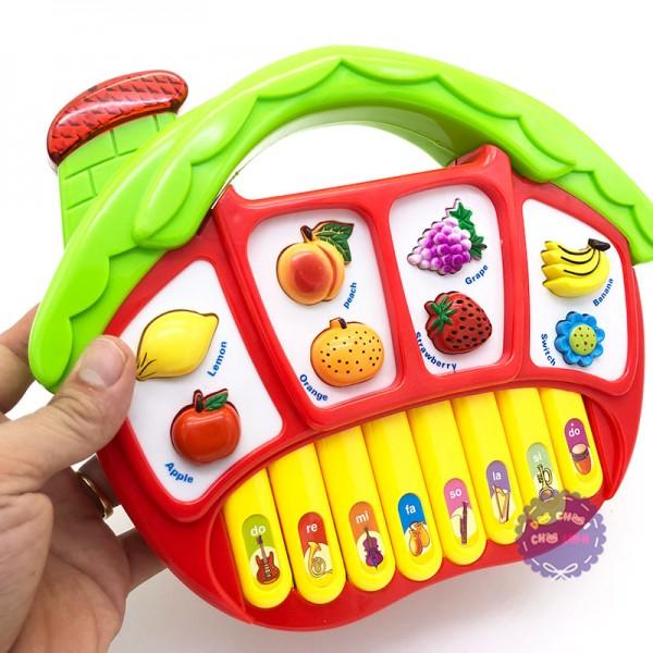 Hộp đồ chơi đàn organ ngôi nhà trái cây có nhạc đèn 5001A