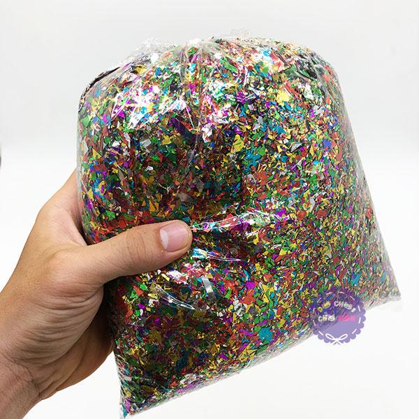 Bịch kim tuyến vụn nhiều màu sắc 500 gram