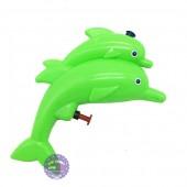 Đồ chơi súng bắn nước cá heo chở con mini