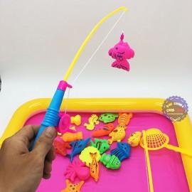 Bộ đồ chơi bể phao câu cá nam châm dưới nước 2 cần