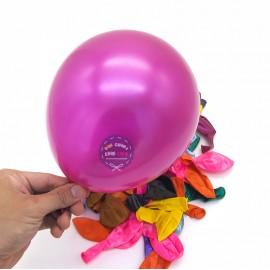 Bong bóng tròn Xi đủ màu 25 cm - 50 Cái/1 Bịch