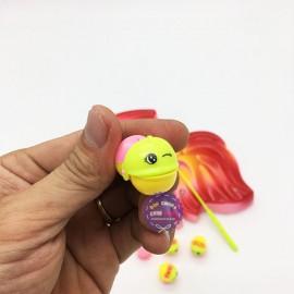Vỉ đồ chơi câu cá 2 cần 15 cá hình cá dùng pin có nhạc tiếng Việt