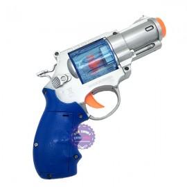 Đồ chơi súng lục ngắn có tuyết dùng pin có đèn nhạc