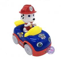 Hộp đồ chơi xe hơi chó cứu hộ dùng pin có nhạc bánh đèn