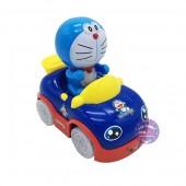 Hộp đồ chơi xe hơi Doraemon dùng pin có nhạc bánh đèn
