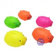 Bộ đồ chơi ống heo bằng nhựa 5 con túi lưới loại nhỏ