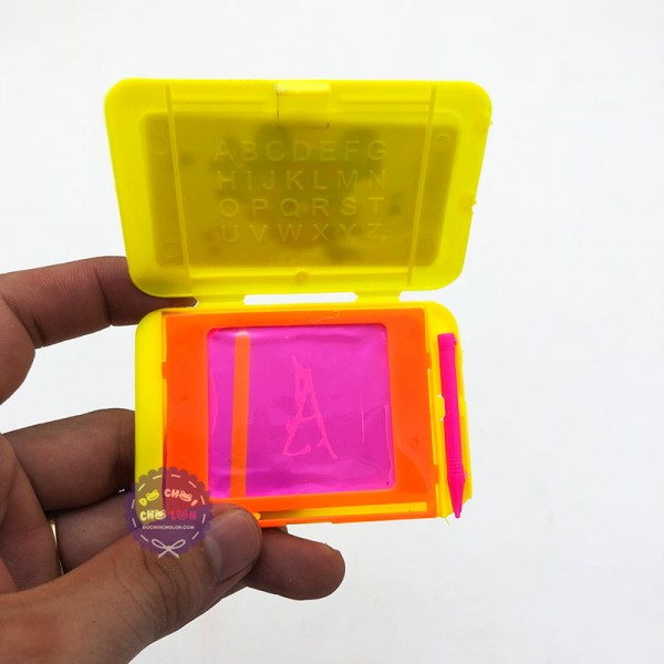 Compo 5 bảng viết dạ quang tự xóa nắp đậy mini