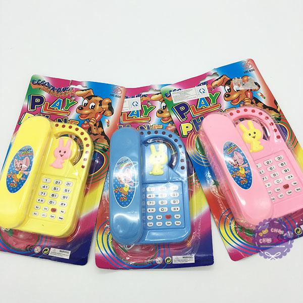 Vỉ đồ chơi điện thoại bàn kiểu đứng dùng pin có đèn nhạc