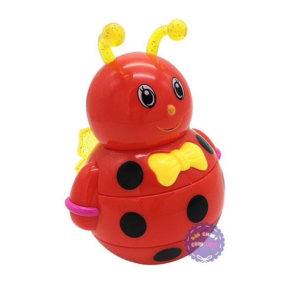Đồ chơi lật đật ong bằng nhựa dùng pin có đèn nhạc