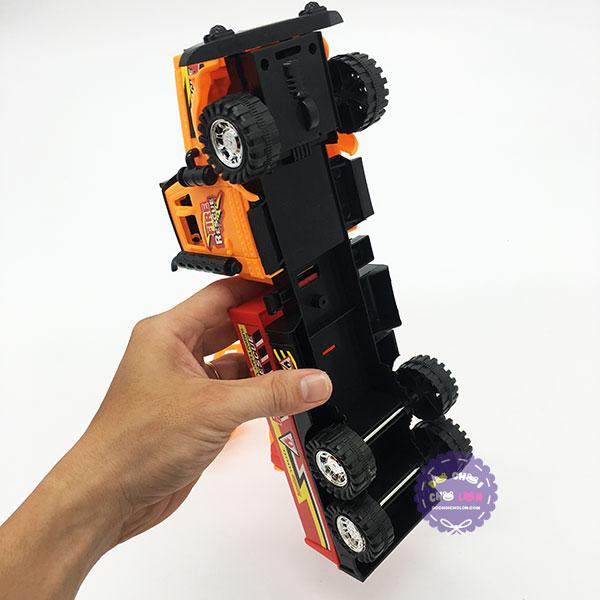 Đồ chơi xe thang cứu hỏa 6 bánh bằng nhựa chạy trớn 6006B