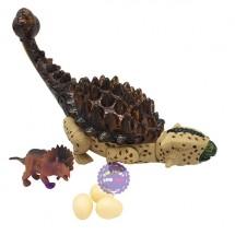 Hộp đồ chơi khủng long lưng gai đẻ trứng & khủng long con chạy pin
