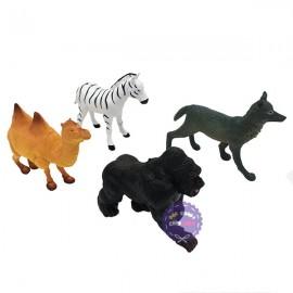Bộ 4 con thú rừng đại: khỉ, ngựa, sói, lạc đà Animal Kingdom