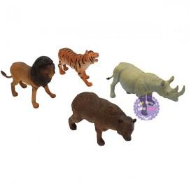 Bộ 4 con thú rừng đại: cọp, sư tử, gấu, tê giác Animal Kingdom