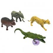 Bộ 4 con thú rừng đại: beo, voi, hà mã, cá sấu Animal Kingdom