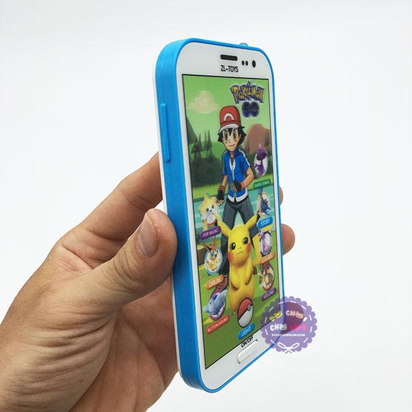 Vỉ đồ chơi điện thoại Pokemon ảo 3D dùng pin có đèn nhạc