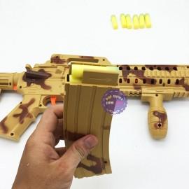Hộp đồ chơi súng máy lính bắn đạn xốp liên thanh 648-12