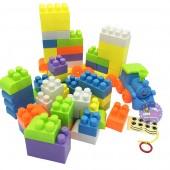 Bộ đồ chơi lắp ráp xe lửa 76 mảnh ghép bằng nhựa Blocks