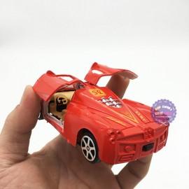 Vỉ đồ chơi xe hơi mở cửa 12 chiếc bằng nhựa chạy trớn
