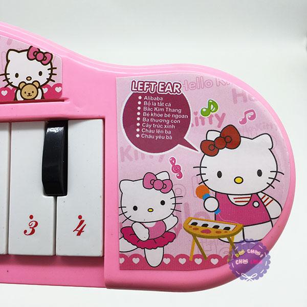 Đàn chơi đàn Organ Hello Kitty tiếng Việt dùng pin bằng nhựa