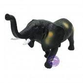 Đồ chơi mô hình con voi bằng nhựa mềm có nhạc