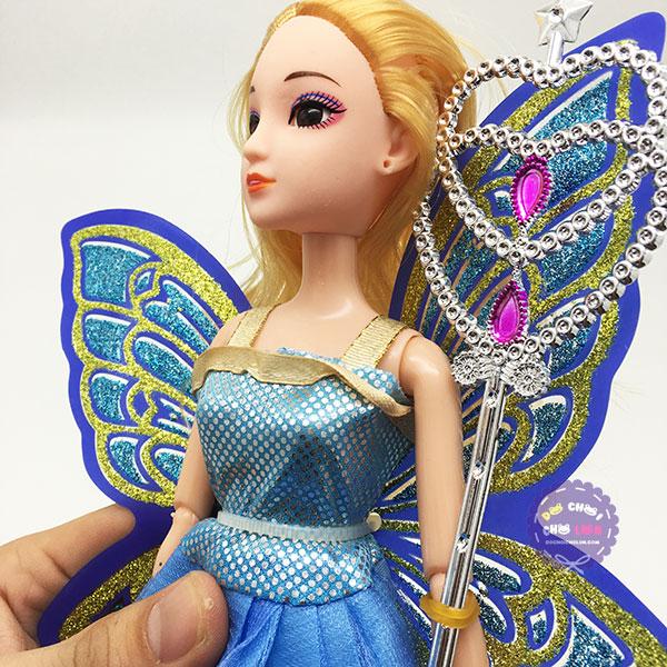 Đồ chơi búp bê cánh bướm mắt thủy tinh 12 khớp nối
